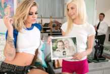 Beauty Jessa helps great chick Piper become a crazy lesbo.