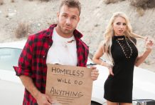 Small Alix Lynx is cheating on her hubby with a homeless