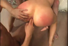 Off the hook doxy Kelly Wells receives anally eaten and fisted in a trio