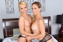 Pornstars Aaliyah Enjoy and Cherie DeVille