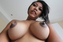 Lustful Thai inexperienced with superb jugs receives drilled and creamed