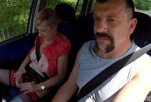 Mirek Takes Aged Huge-titted Doxy on Public