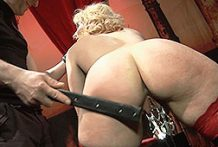 Golden-haired housewife loves being penalized