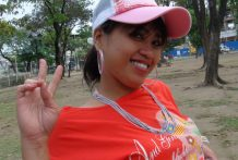 Lovely youthful Filipina in pinkish hat picked up at the park and pounded by slutty western tourist