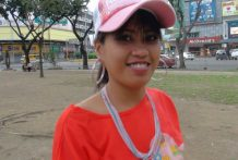 Cute young Filipina in pink hat picked up at the park and fucked by horny western tourist