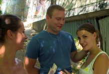 CZECH COUPLES Youthful Pair Takes Cash for Public Foursome
