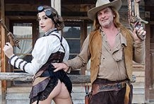 Cowgirl Chanel rails the cowboy dick
