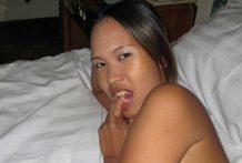 Amateur Pinay babe gets pussy smashed by black cock then blows white guy