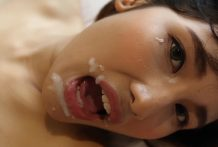 19yo timid Thai ladyboy enjoys getting pounded by foreign jizz-shotgun