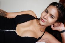 20 year old Thai shemale with large melons copulates and deepthroats tourist rod
