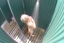Fantastic Czech Golden-haired in Pool♯s Shower