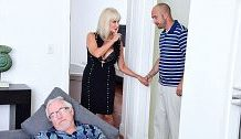 64-year-old Leah copulates. Her husband witnesses.