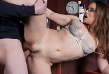 Russian female house slave copulates her customer