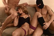 Handsome golden-haired mother I'd like to fuck in a amazing trio oral act