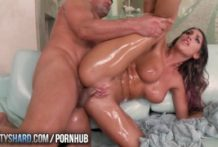 TwistysHard – August Ames receives lubricated up and plumbed
