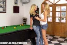 Foreign swap student is enticed by her lezzie patriarch