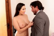 Handsome Karlee copulates her buddies daddy after wiping out her hooters.
