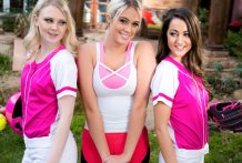 Lily Adams and Lily Rader have a scorching threesome with Athena.