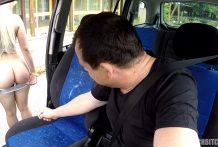 Nice Golden-haired TEEN Receives Driver♯s Lesson