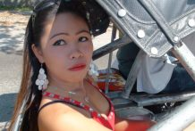 Filipina stunner chased down in trike by tourist and later pumelled at hotel