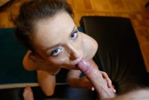Attractive redheaded Czech slut in pigtails will get fuck on stranger's sofa