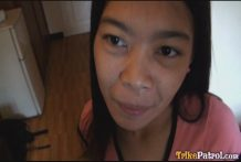 Small youthful Filipina woman Marie knows how to deepthroat and pulverize man meat