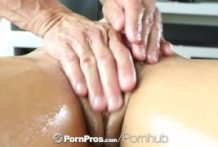 HD PornPros – Wonderful dark brown Adriana Chechik receives fuckholes packed after rubdown