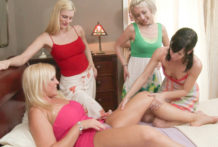 Those ladies receive thier 1st smack of the swap program1