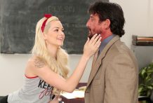 Cheating student Elsa Jean group-fucked by mentor Tommy Gunn.