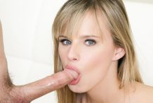 Gorgeous Jillian Janson is giving a cute messy suck off