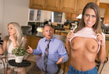 Hawt nympho Jill Kassidy cuckolds fresh husband with her stepdad
