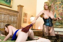 Slapping & rope on act with Amarna Miller & Rain DeGrey