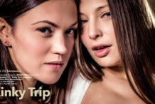 Pervy Travel Scene three Sensuous Alyssa Reece Talia Mint
