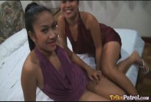 2 magnificent cock-craving Filipina chicks join foreign tourist for hawt 3some