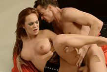Fantastic redhead pornstar screwed firm