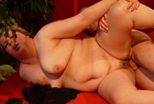 Golden-haired big beautiful woman plowed stiff by a rigid manmeat