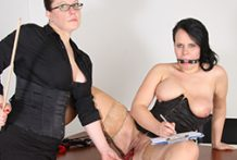 British aged lesbos banging in office