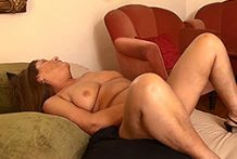 Buxom granny receives plumbed rock hard by her paramour