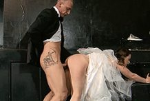 Bawdy bride receives the plowing of a lifetime