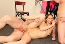 Double teamed housewife