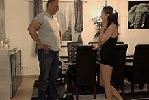 Awesome German stunner receives drilled by her stepdad