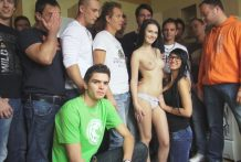 CZECH GANGBANG ORGY – Also many hard-ons for one glamorous lady