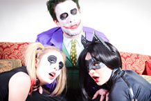 Joker nailing Harley Quinn and Catwoman