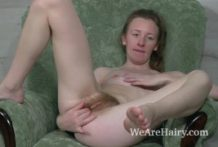 Emma Wish wanks on her green chair