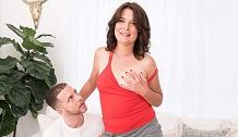 Kelly Scott's 1st time…this babe has a highly wooly vulva!