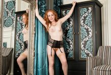 Sexually excited redhead cougar