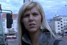 CZECH STREETS – Ilona takes money for public hookup