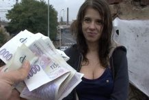 Czech College Damsel Outdoor SEX for Money