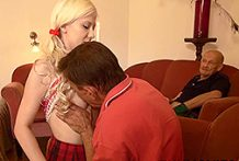 Teenage woman receives pumelled during the time that her uncle sees
