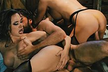 2 breathtaking women in a western hookup fest
